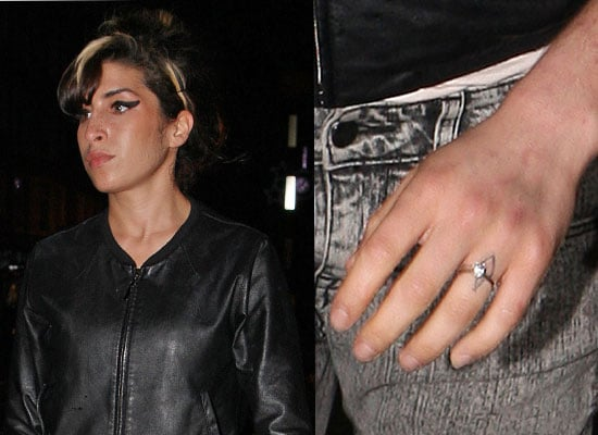Photos of Amy Winehouse Wearing an Engagement Ring Sparking Rumours She is Set to Remarry Blake Fielder-Civil