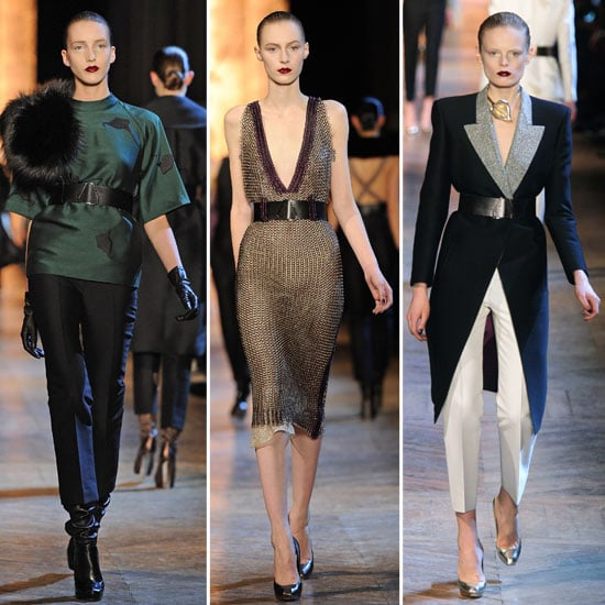 Review and Pictures of Yves Saint Laurent Autumn Winter 2012 Paris Fashion Week Runway Show