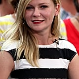 Kirsten Dunst smiled on Good Morning America to promote Bachelorette in NYC.