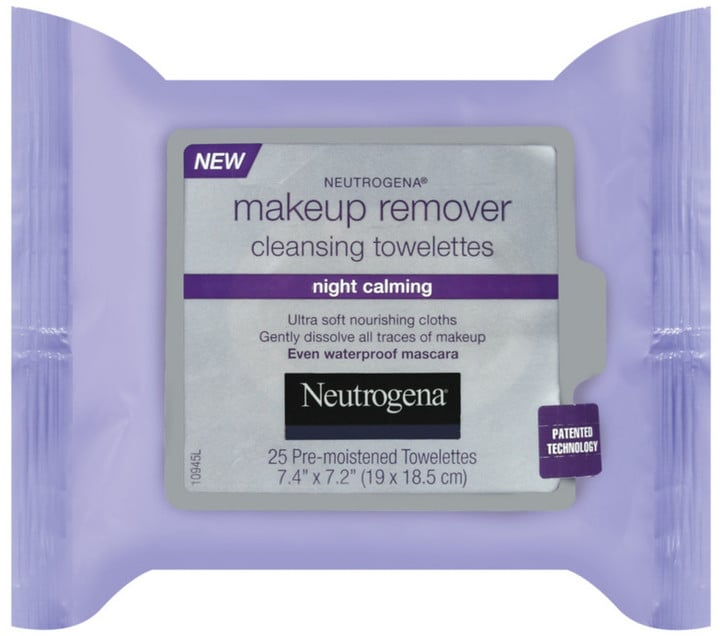 """""""These are my favorite,"""" Kim said of the Night Calming Makeup Remover Cleansing Towelettes ($8) from Neutrogena."""