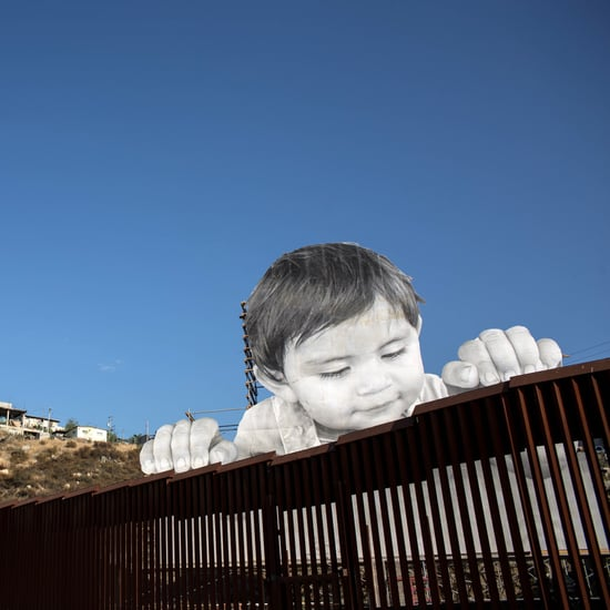 Mexico Border Wall Art Installation of a Child by JR