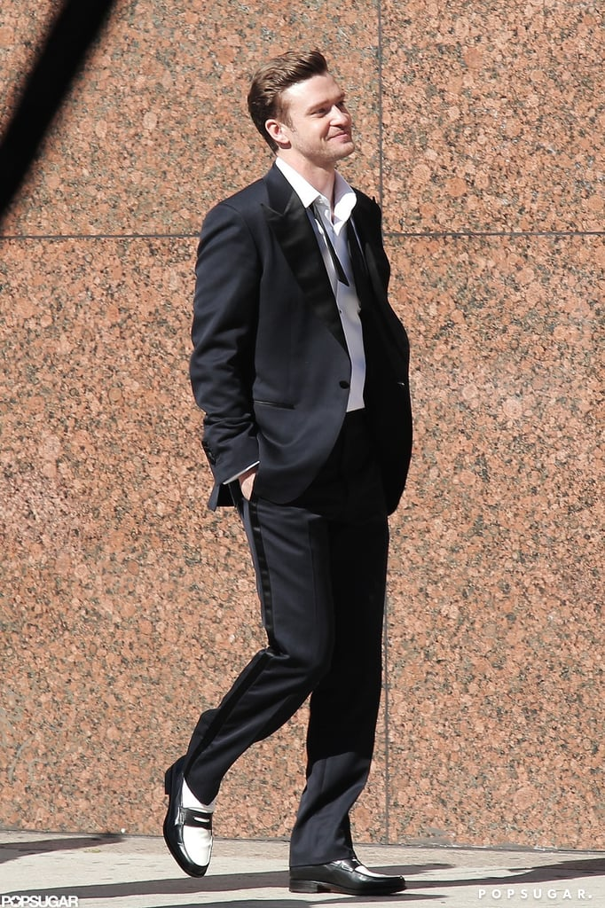 "Justin Timberlake filmed ""Suit & Tie"" in LA."