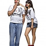 All of the t-shirts are unisex and come in a range of sizes. Lenny Henry and Jameela Jamil are modelling the William Shakespeare top (£9.99).