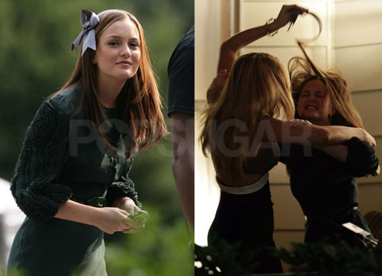 Photos of Blake Lively and Leighton Meester on the Set of Gossip Girl