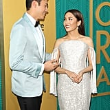 Henry Golding and Constance Wu