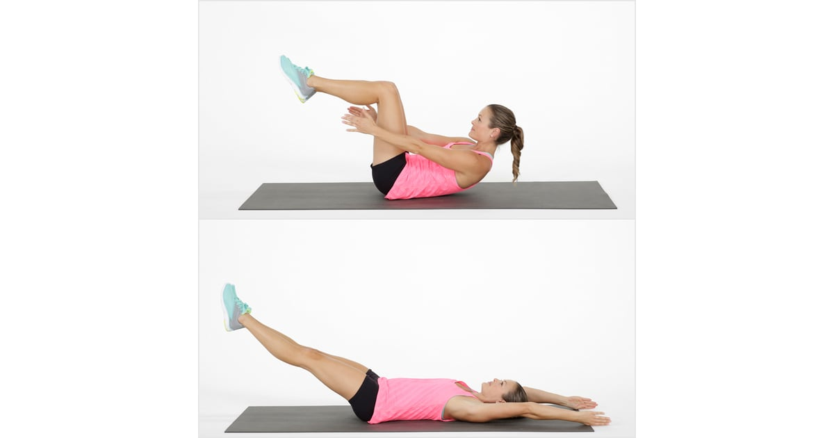 Core Tabletop Crunch With Leg Reach Bodyweight Tabata