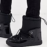 Glamorous Lace Up Snow Boots