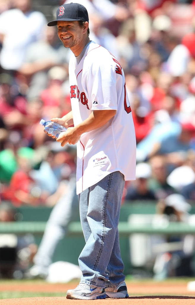 In July 2009, Mark Wahlberg threw out the first pitch at Fenway Park.