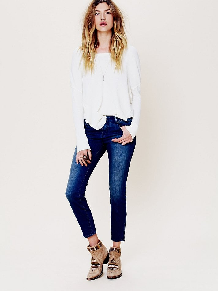 Back-to-school staple: Free People Five Pocket Ankle Crop With Zipper ($88) Why it shouldn't be overlooked: Because we know that most college students adhere (just as we once did ourselves!) to a strict denim diet. Why not spice up your classic ankle-cut silhouette with an edgier, zippered-hem twist?