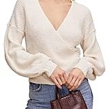 ASTR the Label Surplice Sweater