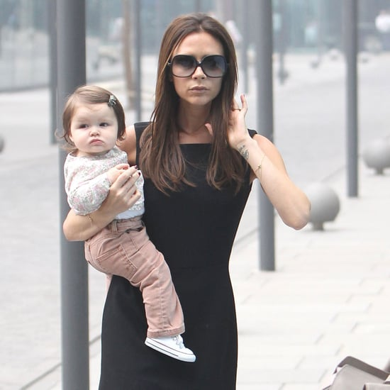 Victoria Beckham and Harper in Beijing, China Pictures