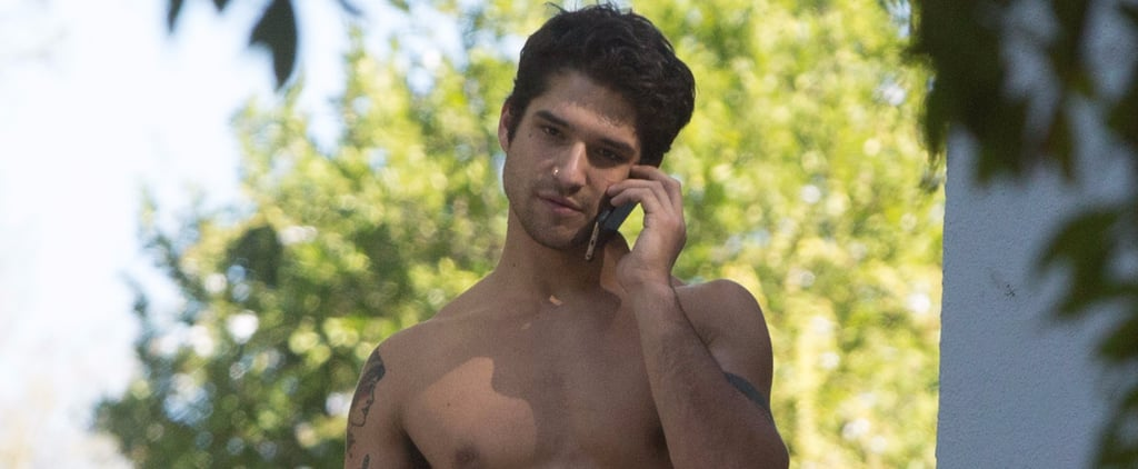 Tyler Posey Puts His Tattooed Biceps on Display During a Shirtless LA Outing