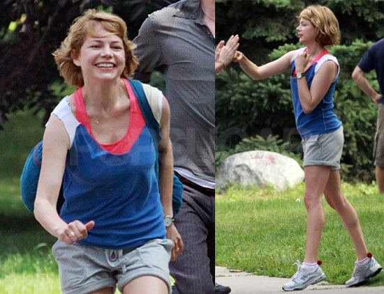 Pictures of Michelle Williams Boxing on Set of Take This Waltz in Toronto