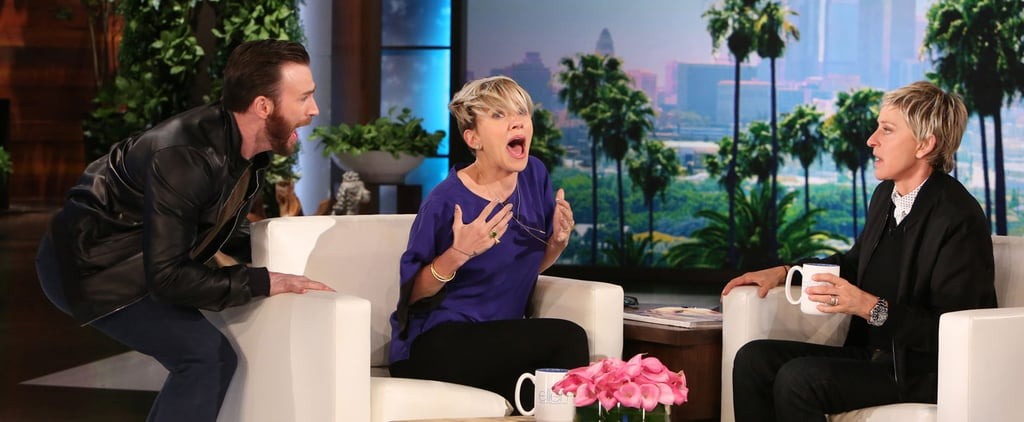 Chris Evans Scares Scarlett Johansson on Ellen