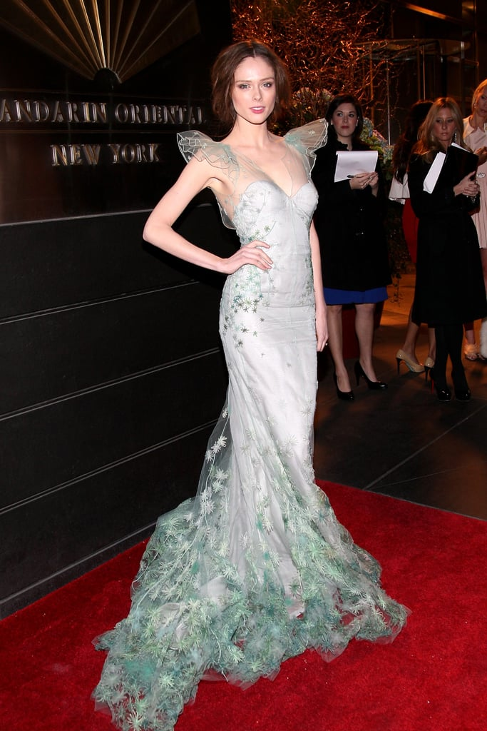 Coco Rocha stunned in a fairy-like confection from Zac Posen.