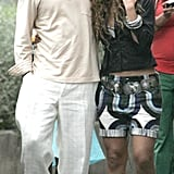 They took a romantic walk together in Portofino, Italy, in June 2005.