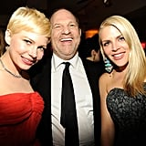 Michelle Williams, Harvey Weinstein, and Busy Philipps