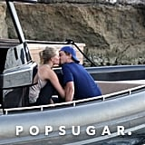 Leonardo DiCaprio and Toni Garrn made out on a boat.