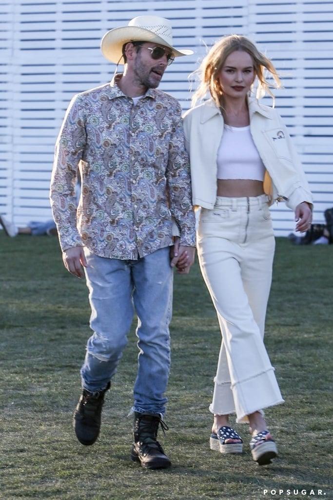Michael Polish and Kate Bosworth at Coachella 2019
