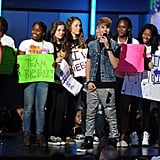Alicia Keys, Justin Bieber, Willow and Jaden Smith at BET Awards 2011-06-27 09:49:19