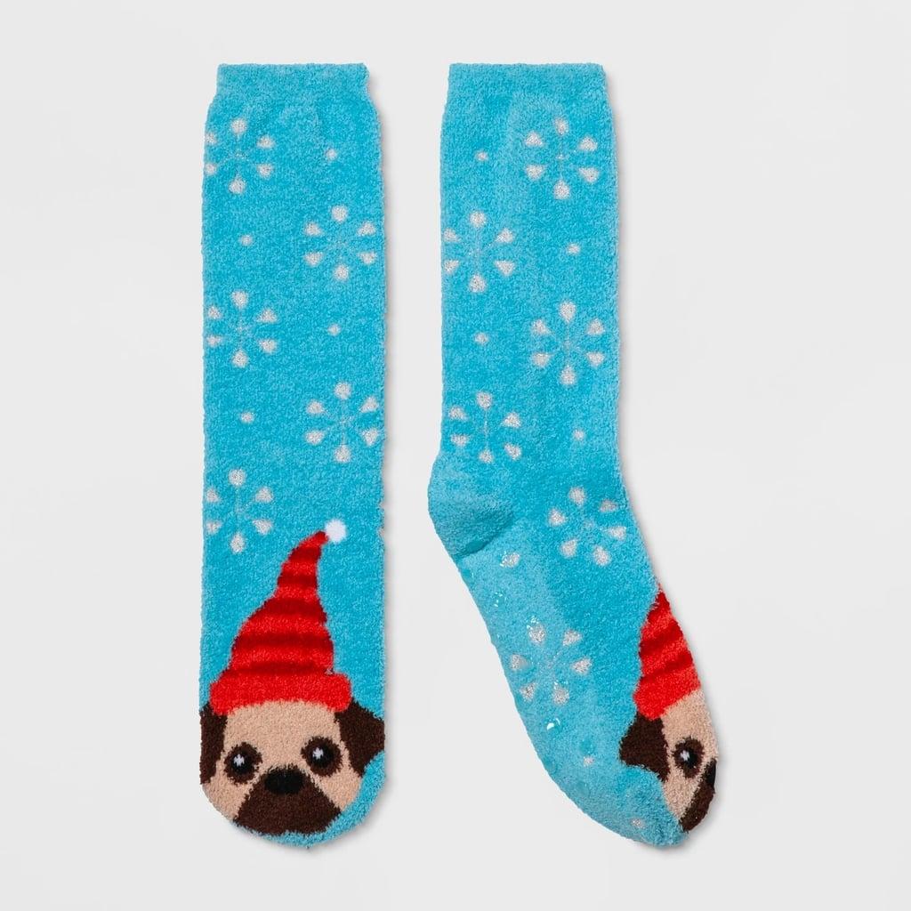Women's Holiday Pug Casual Socks