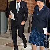 Michael Middleton walked with Jessie Webb, William's former nanny and the nanny for Prince George.