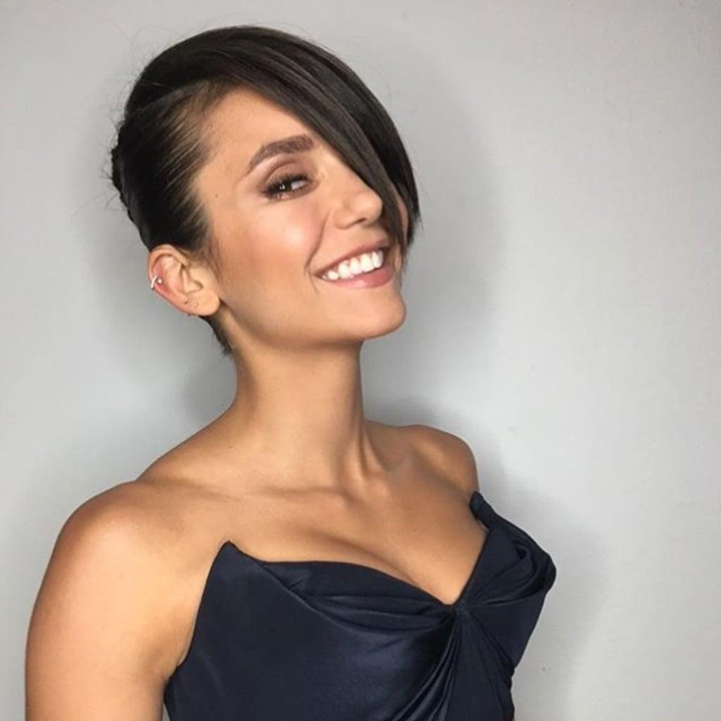 nina dobrev gets asymmetrical haircut in june 2018 | popsugar beauty