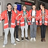 One Direction at Tokyo Narita Airport in 2013