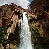 Secret Waterfall in the Grand Canyon