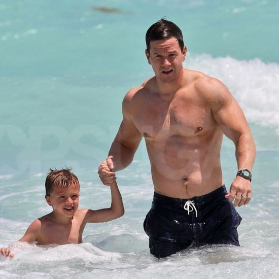 Mark Wahlberg Shirtless in Miami With His Family (Video)