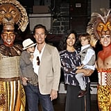 Matthew McConaughey, Levi McConaughey, Vida McConaughey, and Camila Alves McConaughey saw The Lion King. Photos courtesy Joe Marzullo/Disney