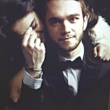 Selena hung on Zedd's shoulder for this magazine-worthy picture.