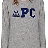 A.P.C. Grey Collegienne Sweatshirt ($165)