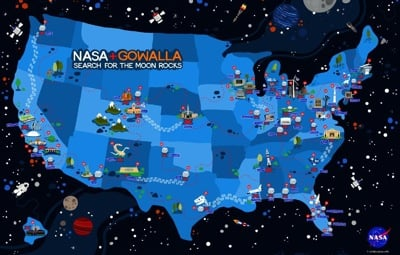 NASA and Gowalla Space Scavenger Hunt
