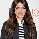Nikki Reed's natural makeup was spot on: matte taupe shadow, coral cheeks, and nude pink lips.