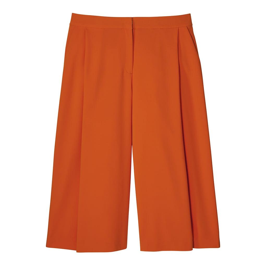Orange Pleated Culotte ($40)