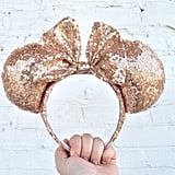 Full Rose Gold Sequin Minnie Mouse Ears ($17)