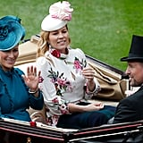 Zara Tindall, Autumn Phillips, and Peter Phillips