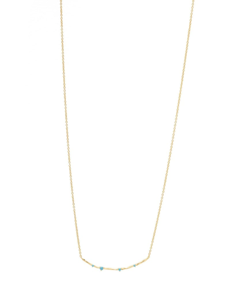 Gorjana Cleo Bar Necklace With Stones