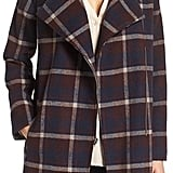 Cupcakes and Cashmere Renley Plaid Notch Collar Coat ($175)