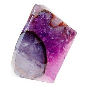 You can't go wrong adding a vibrant amethyst geode-shaped soap ($12) to your powder room.