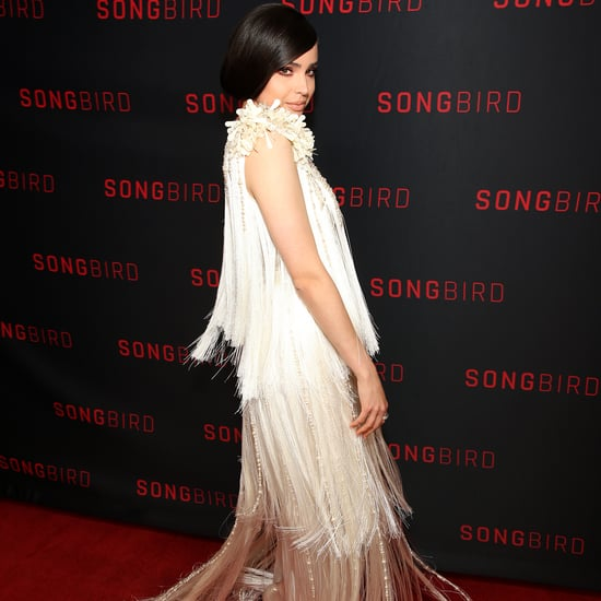 See Sofia Carson's Fringed Prada Dress at Songbird Premiere