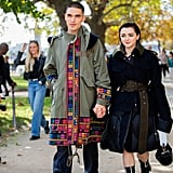 Maisie Williams and Reuben Selby at Sacai's Paris Fashion Week Show