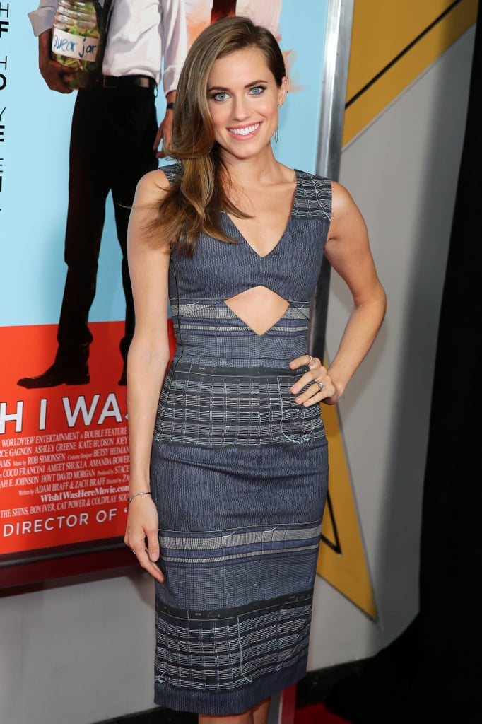 Allison Williams showcased a hint of skin in an otherwise sophisticated sheath at the NYC screening of Wish I Was Here.