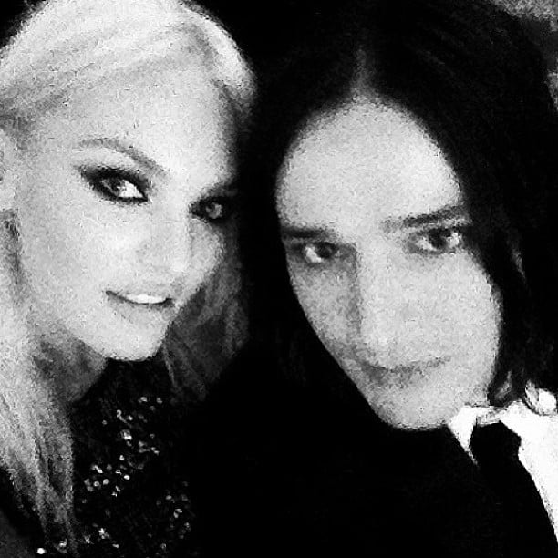 Candice Swanepoel snapped a black and white photo with her amfAR Inspiration Gala date, designer Olivier Theyskens. Source: Instagram user angelcandices