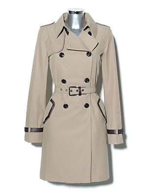 Vince Camuto Leather Buckle Trench ($138)