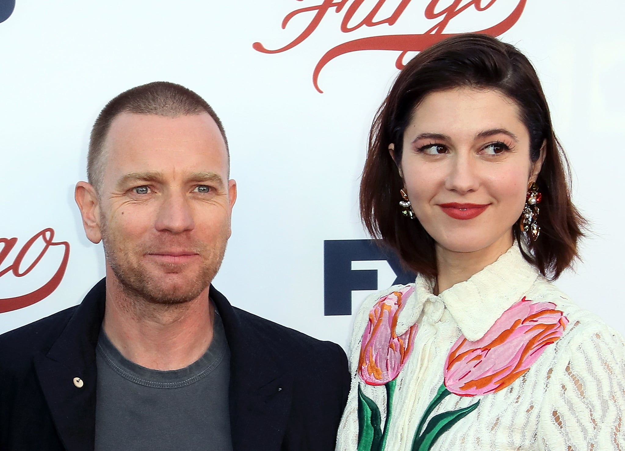 NORTH HOLLYWOOD, CA - MAY 11:  Actors Ewan McGregor (L) and Mary Elizabeth Winstead attend FX's
