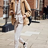 Stay Cosy With a Teddy Coat and Comfortable Trainers