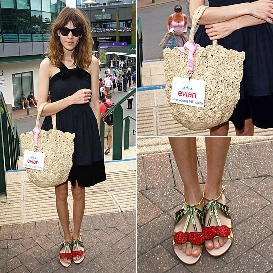 Alexa Chung Wearing Cherry Shoes