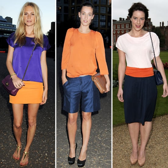 Orange and Blue Outfits